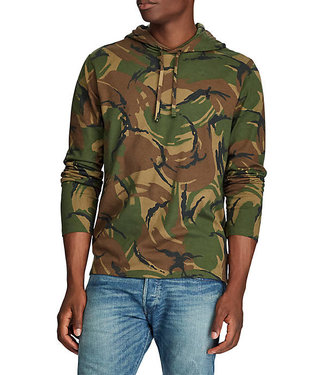 Polo Ralph Lauren Camo Long Sleeve Jersey Hooded T-Shirt