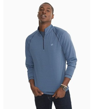 Southern Tide Portola Stripe Performance Quarter Zip