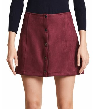 Jack - BB Dakota Can't Buy Me Love Faux Suede Skirt