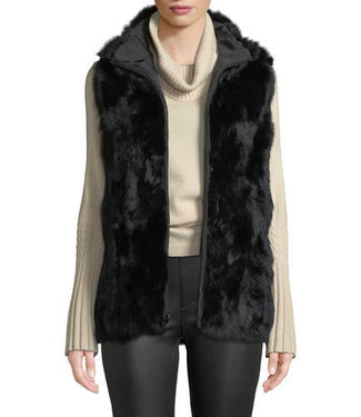 Metric Reversible Rabbit Fur Vest
