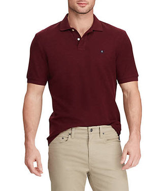 Chaps Big & Tall Solid Knit Polo Shirt