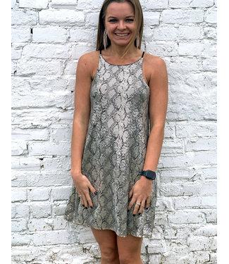 Caramela Snake Print Dress