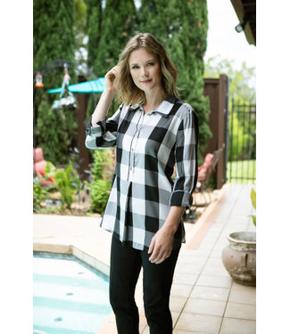 Multiples Checkered Top