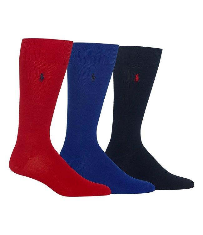 Polo Ralph Lauren 3 Pack Solid Dress Socks