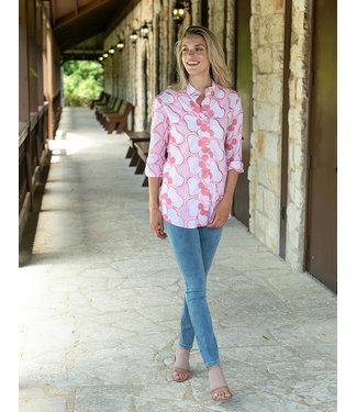 Sharon Young Floral Eyelet Shirt Jacket