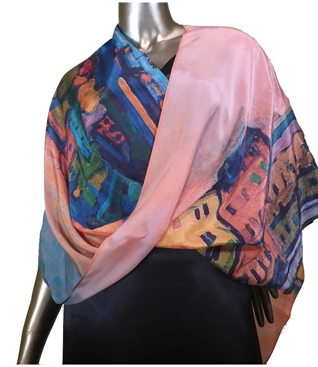 Cocoon House Frida Silk Infinity Poncho