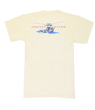 Coastal Cotton Center Console Pima Tee
