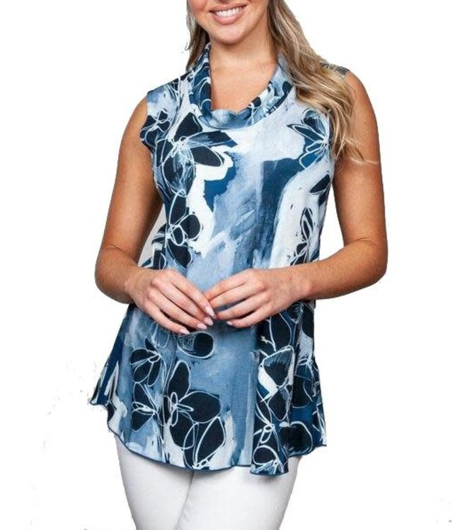 Sno Skins Print Sleeveless Top