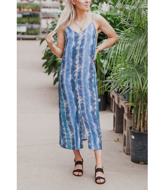 RD Style Striped Tie Dye Maxi Dress