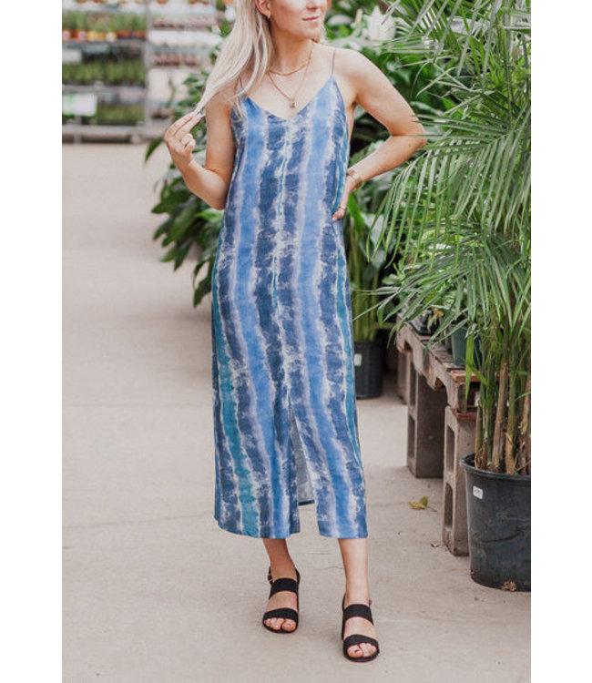 RD Style Striped Tie Dye Maxi Dress
