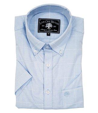 Live Oak Short Sleeve Windowpane Shirt