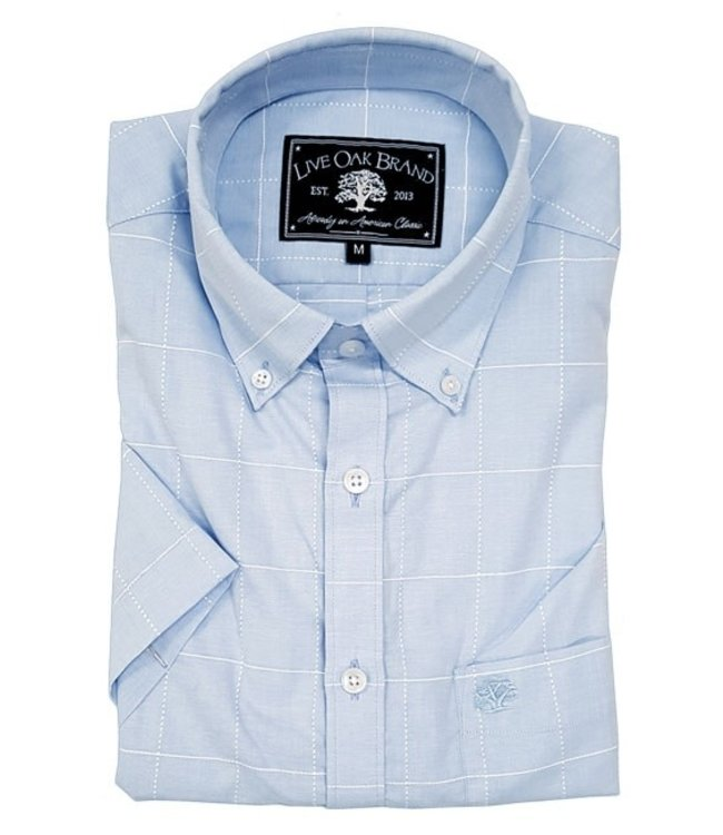 Live Oak Short Sleeve Windowpane Shirt