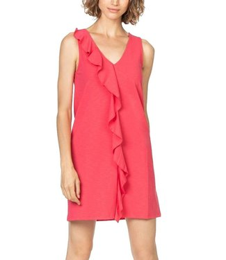 Lilla P Ruffle Front Shift Dress