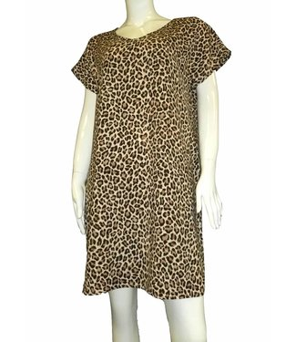 KLD V-Neck Leopard Dress
