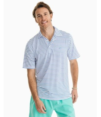 Southern Tide Driver Stripe Performance Polo Shirt