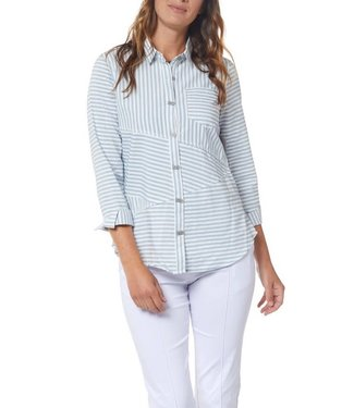 Multiples Multiples Stripe Button Front Shirt