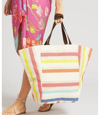 Echo Metallic Stripe Tote