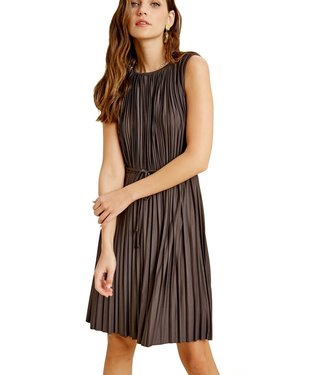 Wishlist Pleated Tie Waist Dress