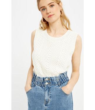 Wishlist Crochet Lace Knit Top