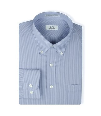 Cooper & Stewart Double Line Stripe Dress Shirt
