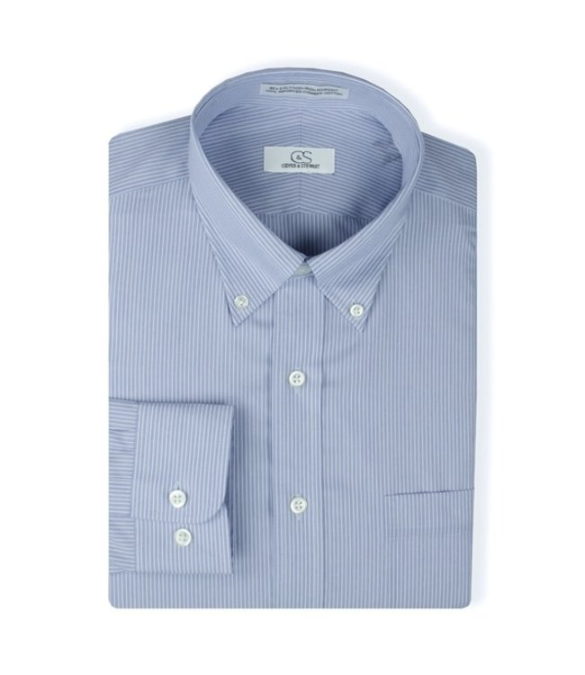 Cooper & Stewart Double Line Stripe Dress Shirt