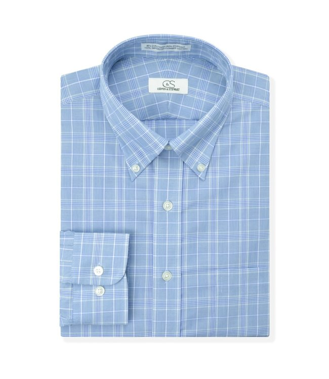Cooper & Stewart Non-Iron Glen Plaid Button Down Shirt