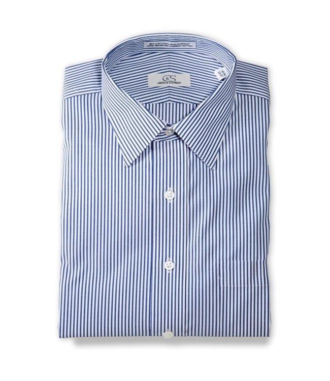 Cooper & Stewart Burlington Banker's Stripe Shirt