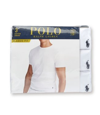 Polo Ralph Lauren 3-pack Solid Classic Crew T-shirts