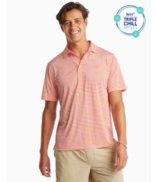 Southern Tide Brrr Bimini Stripe Performance Polo