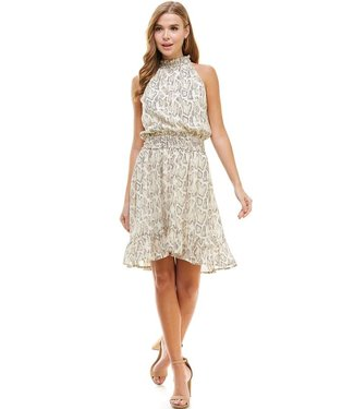 TCEC Snake Print Mock Neck Dress