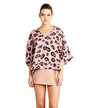 Tyche Tyche Mod Leopard Kimono Top