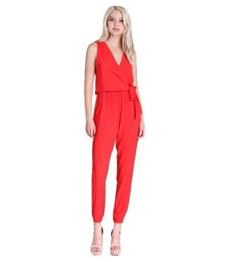 Tyche Textured Wrap Jumpsuit