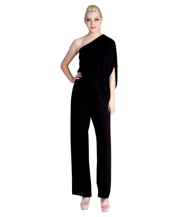 Tyche Slouchy One Shoulder Jumpsuit