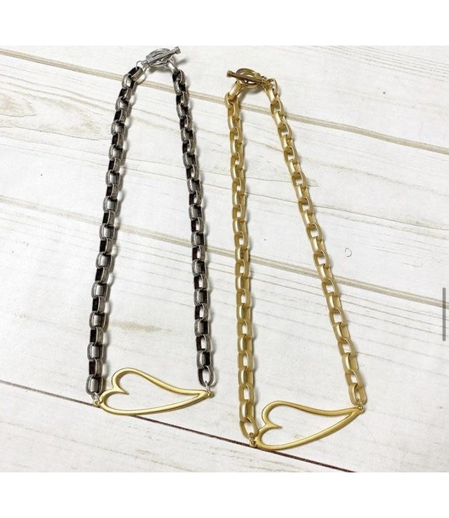 Virtue Open Heart Rolo Necklace