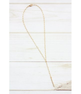 Virtue Paperclip Y-Drop Tube Necklace