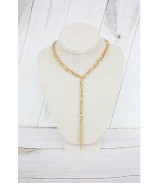 Virtue Squares Y Drop Necklace