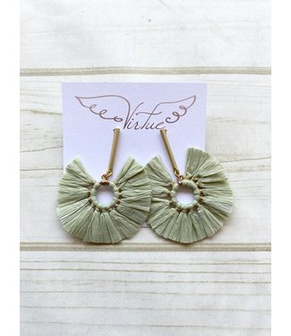 Virtue Virtue Circle Raffia Earrings