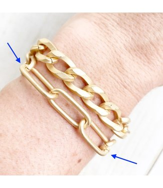 Virtue XL Paperclip Lobster Clip Bracelet