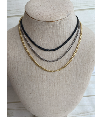 "Virtue Small  Curb 16"" Necklace"