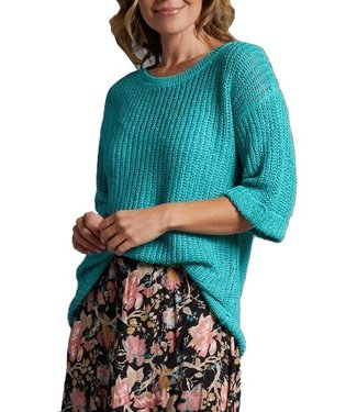 Multiples Drop Shoulder Tunic with Cuffed Sleeves