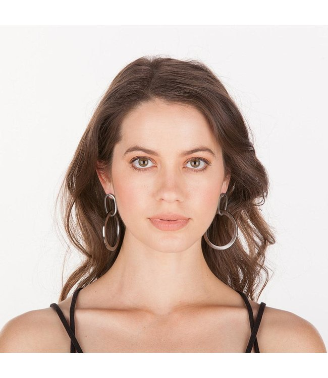 Sheila Fajl Sage Dangle Hoop Earrings