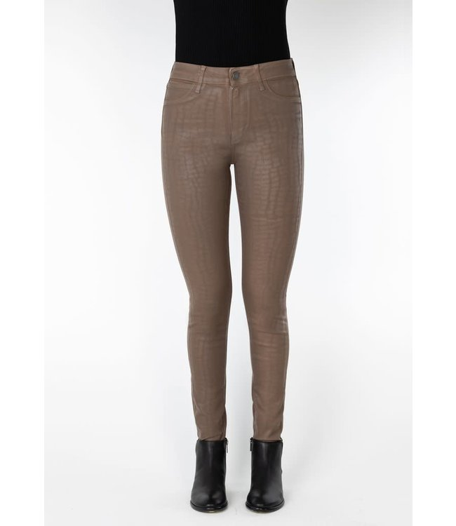 Articles of Society AoS Coated Castle Rock Hilary High Rise Jeans