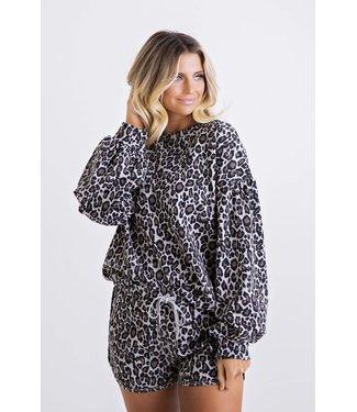 Karlie Karlie Leopard Sweatshirt Set