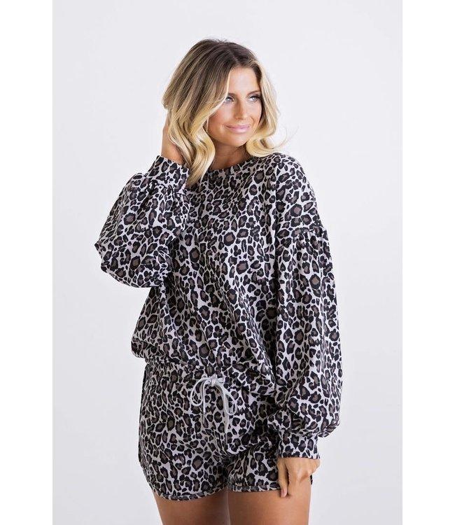 Karlie Leopard Sweatshirt Set