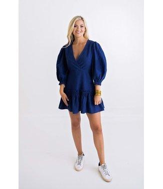 Karlie Karlie Wrap Puff Sleeve Dress