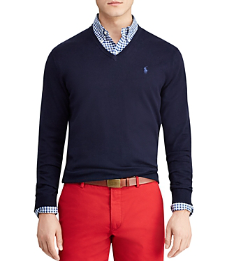 Polo Ralph Lauren PRL Pima Cotton V-Neck Sweater