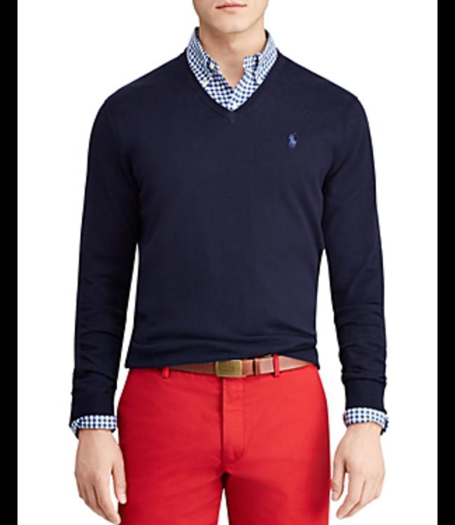 Polo Ralph Lauren PRL Pima Cotton V-Neck Sweater