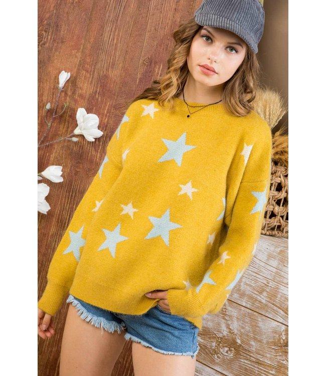 Main Strip Star Crew Neck Sweater