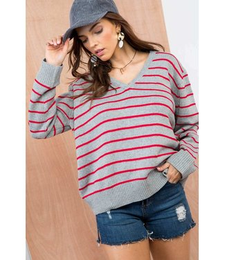 Main Strip Oversized Stripe Sweater