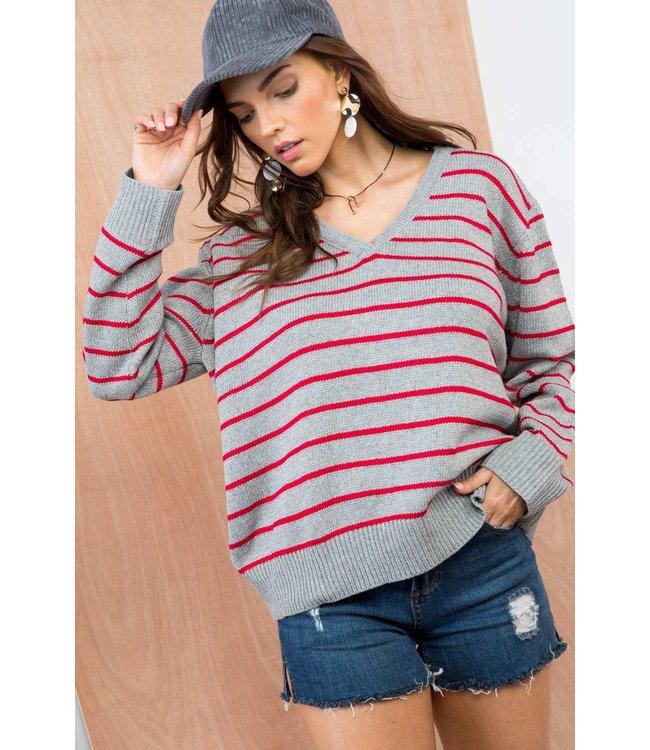 Main Strip Oversized Stripe Sweater